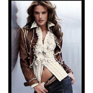 Gorgeous tan Victoria's Secret leather jacket m